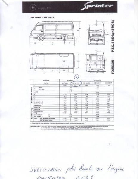 Camping Car Mercedes Benz Mb100 Sprinter